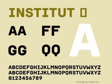 Institut ☞ Version 001.002;com.myfonts.easy.brownfox.institut.regular.wfkit2.version.4aw9图片样张