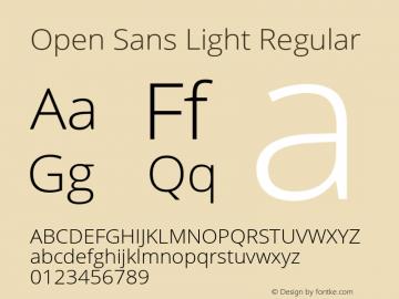 Open Sans Light Regular Version 1.10 Font Sample