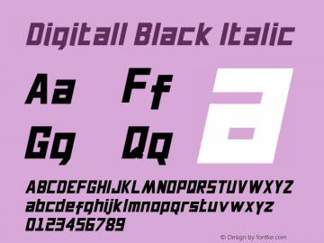 Digitall Black Italic Version 1.000图片样张