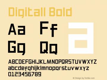 Digitall Bold Version 1.000图片样张