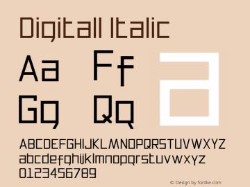 Digitall Italic Version 1.000图片样张