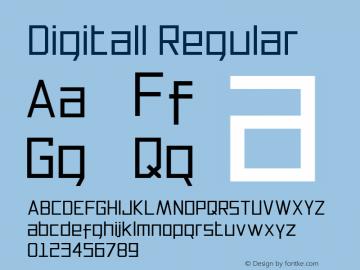 Digitall Regular Version 1.000图片样张