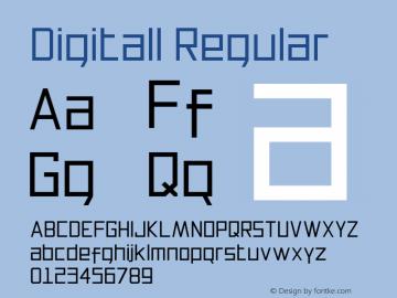 Digitall Regular 1.000图片样张