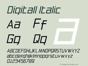 Digitall Italic 1.000图片样张