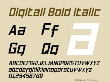 Digitall Bold Italic 1.000图片样张