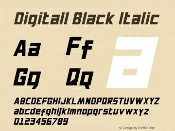 Digitall Black Italic 1.000图片样张