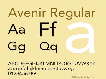 Avenir Regular 001.001 Font Sample