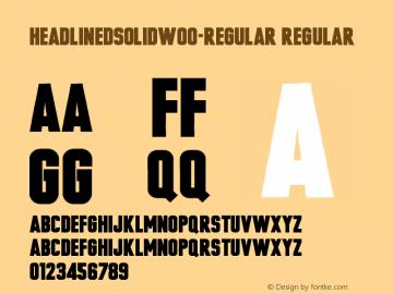 HeadlinedSolidW00-Regular Regular Version 1.00 Font Sample