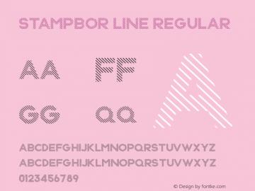 Stampbor Line Regular Version 1.00 May 4, 2015, initial release Font Sample