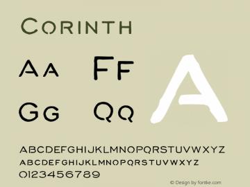 Corinth ☞ Version 1.000;com.myfonts.easy.albatross.corinth.regular.wfkit2.version.4oAG图片样张