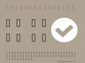 example Regular Version 1.0 Font Sample