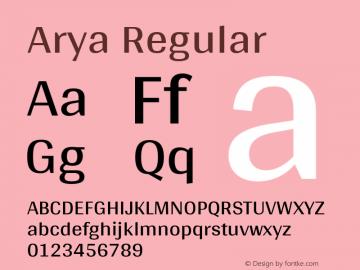 Arya Regular Version 1.000图片样张