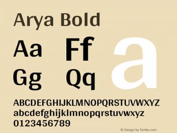 Arya Bold Version 1.000图片样张