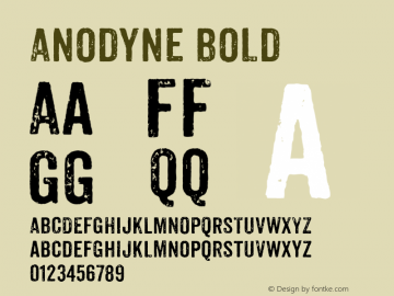 Anodyne Bold Version 1.000;com.myfonts.easy.yellow-design.anodyne.regular.wfkit2.version.3Fhi图片样张