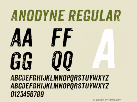 Anodyne Regular Version 1.000;com.myfonts.easy.yellow-design.anodyne.italic.wfkit2.version.3Fhh图片样张