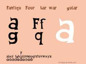 Fantique Four Shareware Regular ver.001.041  2/20/97 Font Sample