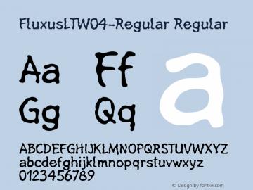 FluxusLTW04-Regular Regular Version 1.00 Font Sample