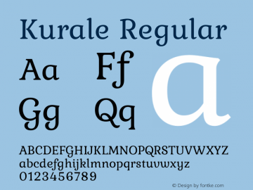 Kurale Regular 1.0 Font Sample