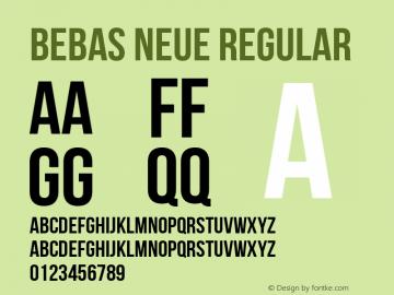 Bebas Neue Regular Version 1.300 Font Sample