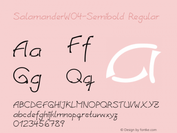 SalamanderW04-Semibold Regular Version 1.00 Font Sample