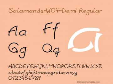 SalamanderW04-Demi Regular Version 1.00 Font Sample