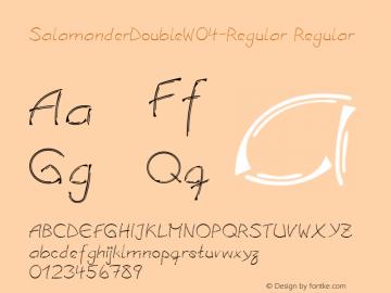 SalamanderDoubleW04-Regular Regular Version 1.00 Font Sample
