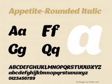 Appetite-Rounded Italic 1.000;com.myfonts.easy.deniserebryakov.appetite-rounded.regular.wfkit2.version.4b9n图片样张