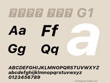 系统字体 粗斜体 G1 11.0d45e1--BETA Font Sample