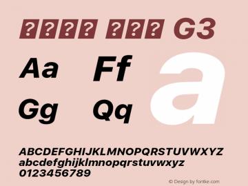 系统字体 粗斜体 G3 11.0d45e1--BETA Font Sample