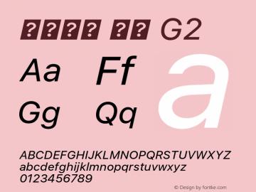 系统字体 斜体 G2 11.0d45e1--BETA Font Sample