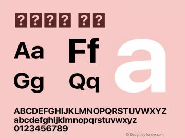 系统字体 粗体 11.0d33e2--BETA Font Sample