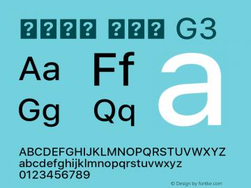 系统字体 常规体 G3 11.0d45e1--BETA Font Sample
