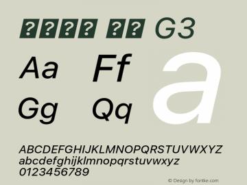 系统字体 斜体 G3 11.0d45e1--BETA Font Sample