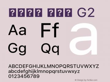 系统字体 常规体 G2 11.0d45e1--BETA Font Sample