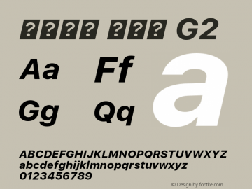 系统字体 粗斜体 G2 11.0d45e1--BETA Font Sample