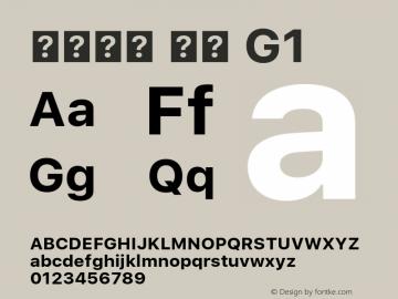 系统字体 粗体 G1 11.0d45e1--BETA Font Sample