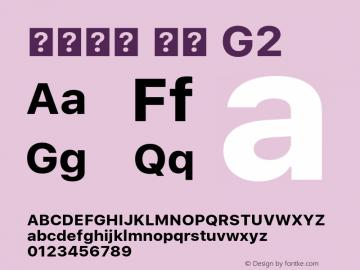 系统字体 粗体 G2 11.0d45e1--BETA Font Sample