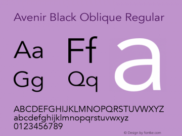Avenir Black Oblique Font,Avenir Font,Avenir-BlackOblique