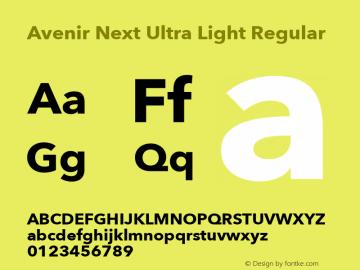 Avenir Next Ultra Light Font,AvenirNext-UltraLight Font,Avenir Next