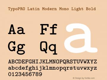 TypoPRO Latin Modern Mono Light Font,TypoPRO LM Mono Light