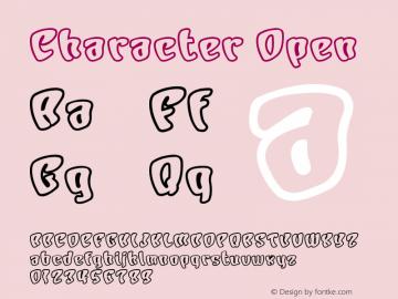 Character Open Macromedia Fontographer 4.1J 00.10.17 Font Sample