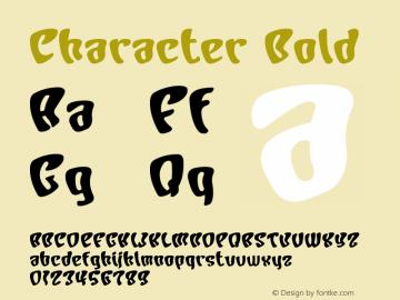 Character Bold Macromedia Fontographer 4.1J 00.10.17 Font Sample
