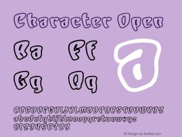Character Open Macromedia Fontographer 4.1J 01.1.23 Font Sample