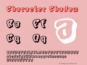 Character Shadow Macromedia Fontographer 4.1J 01.1.23 Font Sample