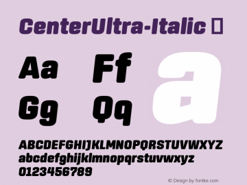 CenterUltra-Italic ☞ Version 1.100;com.myfonts.easy.signal.center.ultra-italic.wfkit2.version.44Wu Font Sample