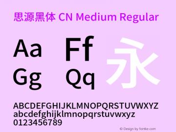 思源黑体 CN Medium Regular Version 1.003;PS 1.002;hotconv 1.0.82;makeotf.lib2.5.63406图片样张