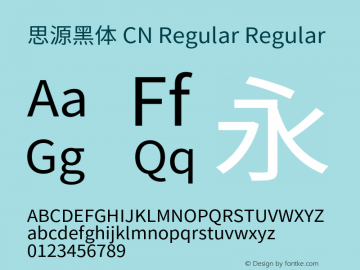 思源黑体 CN Regular Regular Version 1.003;PS 1.002;hotconv 1.0.82;makeotf.lib2.5.63406图片样张