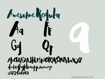 Awesome Regular 1.000 Font Sample