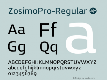 ZosimoPro-Regular ☞ Version 1.000;PS 001.000;hotconv 1.0.70;makeotf.lib2.5.58329;com.myfonts.easy.delicious-type.zosimo-pro.regular.wfkit2.version.4p6v Font Sample