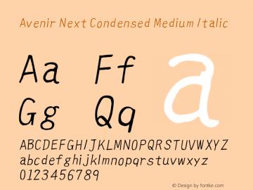 Avenir Next Condensed Medium Font,Avenir Next Medium